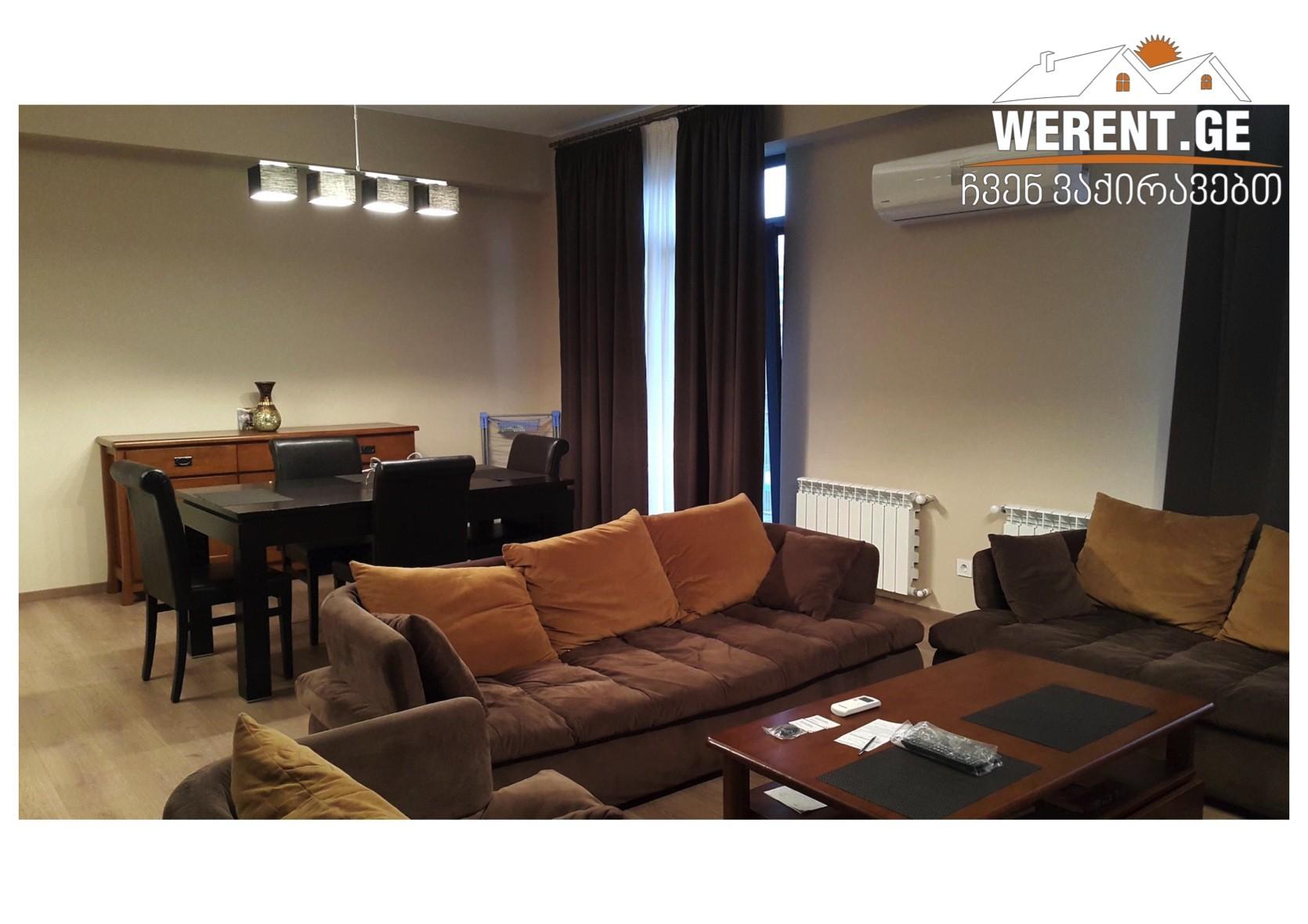 3 Room Big Apartment For Rent At M2 Kazbegi, Saburtalo, Tbilisi
