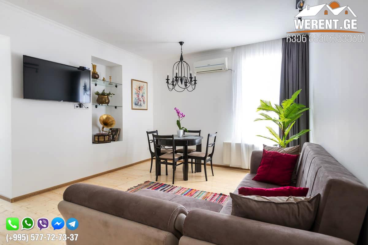 3-Room Apartment For Rent Near Opera, At Tabukashvili Street, Tbilisi